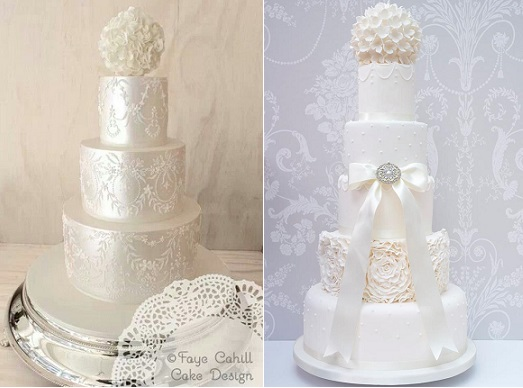 pomander wedding cakes by Faye Cahill left and by Melissa Woodland Cakes right, Shelby Hepworth Photography