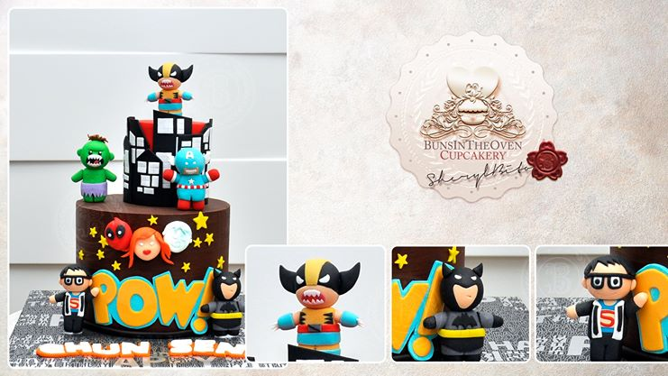 superhero cake for children's birthday party by Sheryl Bito