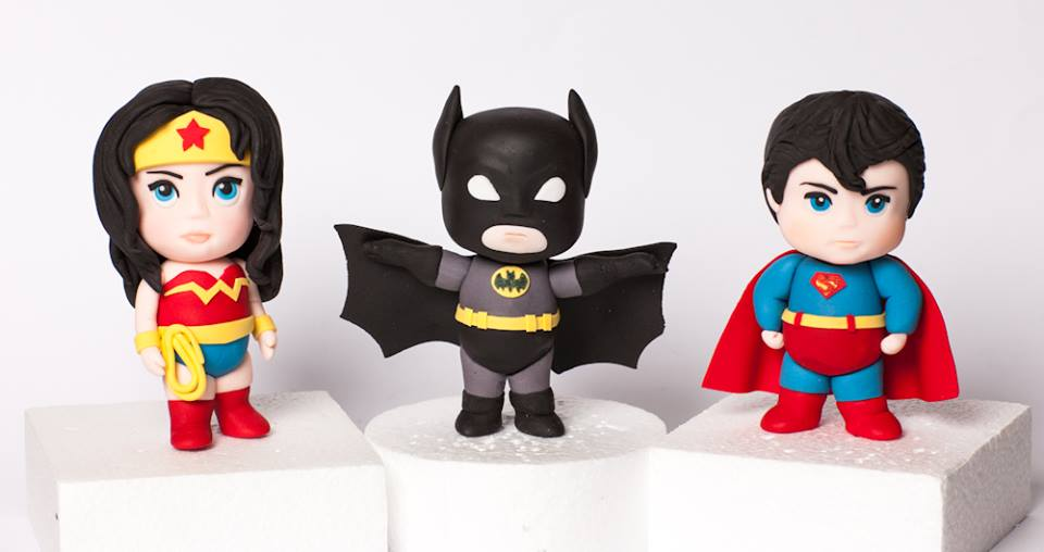 superhero cake toppers for children's birthday cakes by Rouvelee's Creations