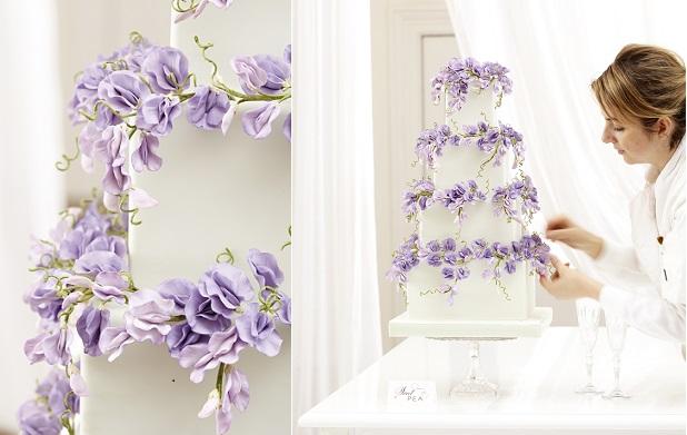 sweet pea wedding cake by Peggy Porschen
