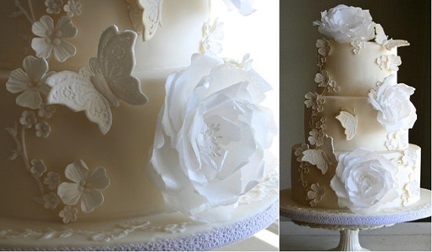 wafer-paper-flowers-wedding-cake-by-Sada-Ray-Flutterby-hyphen-Bakery.com-Brighton-Claire-Pettibone-inspired
