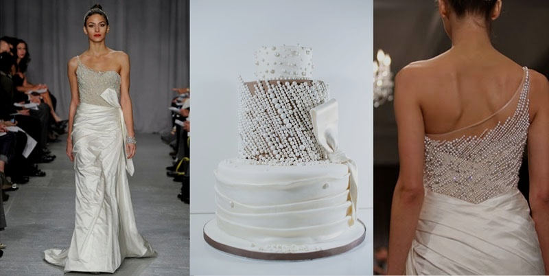 wedding dress inspired cake by Elizabeth's Cake Emporium via Aphrodite's Wedding Blog