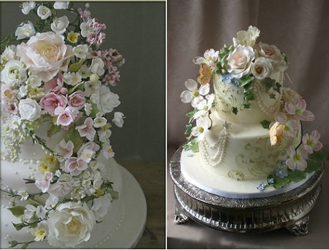 A Midsummer Night's Dream wedding cakes by Amy Swann left and Ellen Bartlett, Cakes to Remember, right