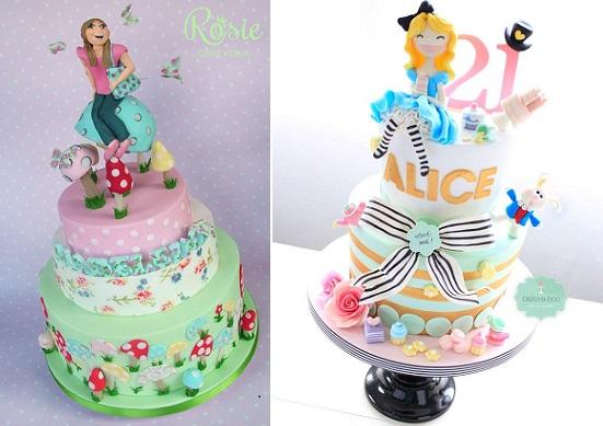 Outstanding Alice In Wonderland Cakes Cake Geek Magazine Funny Birthday Cards Online Alyptdamsfinfo