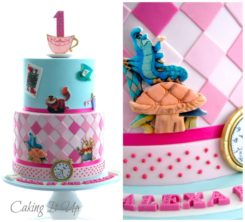 Alice in Wonderland Cake by Caking It Up