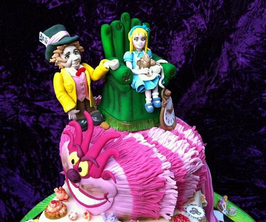 Alice in Wonderland cake by Cake Revolution, London