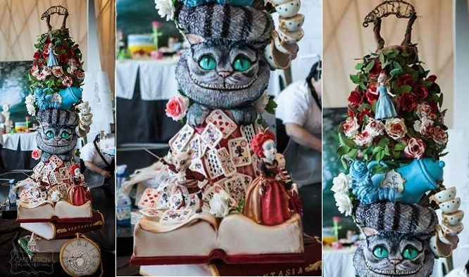 Alice in Wonderland cake from Silovoglio, Sabrina Pierantozzi Photography