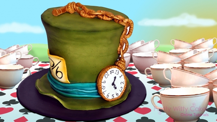 Mad Hatter cake tutorial from Pretty Witty Cakes with Leesa Collins