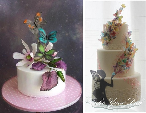 Midsummer Night's Dream cakes from Unusual Cakes for You left and Cake Your Day right