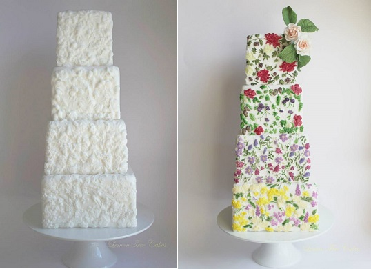 bas relief cake decorating from Lemon tree cakes