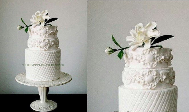 bas relief wedding cake by The Little Cake Patch