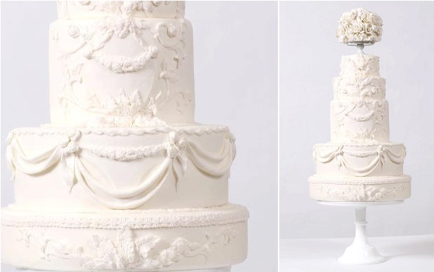bas relief wedding cake design baroque style by Nadia & Co.