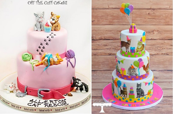cat cakes by Off The Cuff Cakes and Cuteology Cakes
