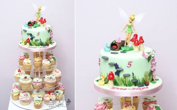 flower fairy cake by Candytuft Cakes
