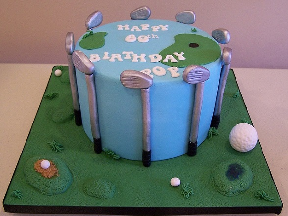 golf cake by Chantilly Cake Designs