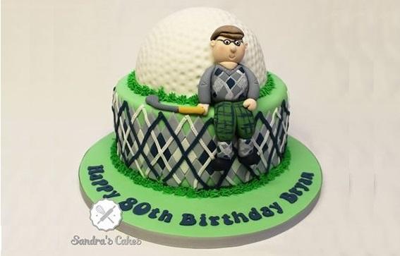golf cake by Sandra's Cakes, Hastings, UK