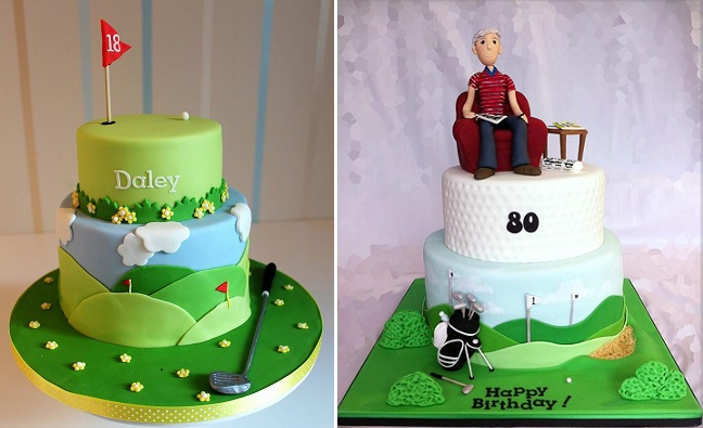 Golf Cakes By Strawberry Lane Left And Dream Robyn Right