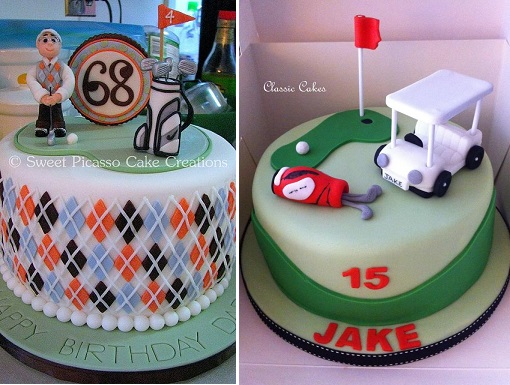 golf cakes by Sweet Picasso Cake Creations and Classic Cakes