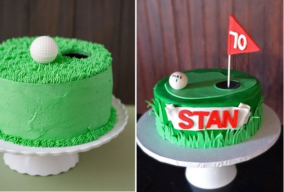 Golf Cakes Via Craft Gossip Left And City View Bakehouse Right