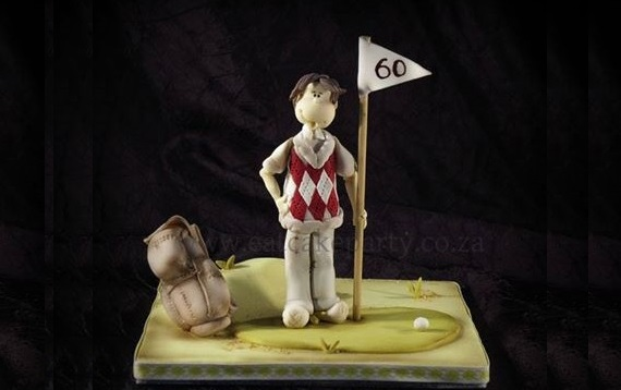 golfer cake topper model by Eat Cake Party, South Africa