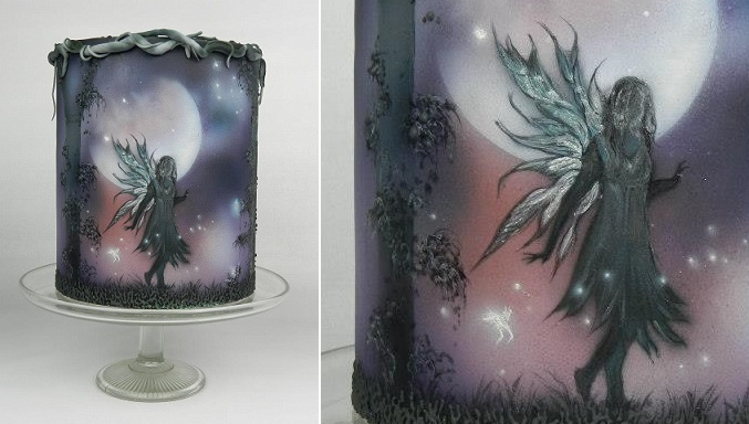 painted fairy cake by Kim Wiltjer