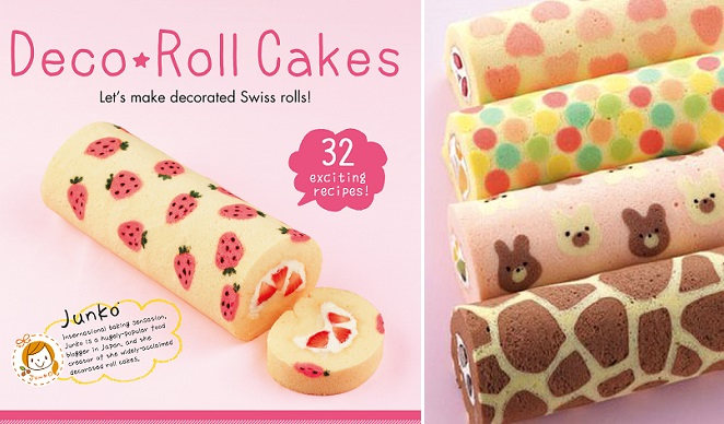 decorated jelly roll tutorial by JUNKO/ patterned Swiss rolls tutorial/deco roll tutorial