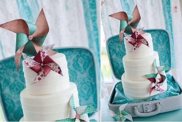 pinwheel wedding cake, La Fabrik A Gateaux