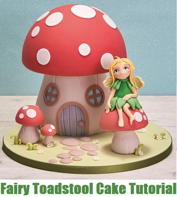 Fairy Cake Topper Tutorial and Fairy Toadstool Cake Tutorial on Cake-Geek.com 2