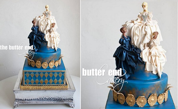 Marie Antoinette cake by The Butter End Cakery