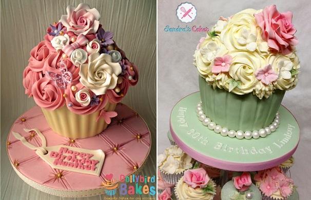 cupcake cakes by Dollybird Bakes & Sandra's Cakes