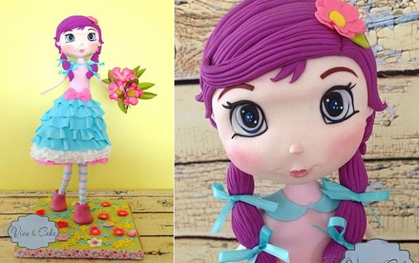 doll cake 3D doll model by Viva La Cake