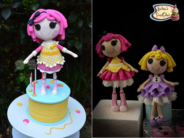 doll cakes by I Bake You Enjoy left, Andrea's Sweet Cakes right