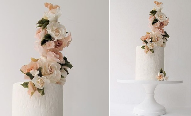 elevated sugar flowers contemporary sugar flower arrangement by Maggie Austin