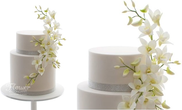 elevated sugar flowers singapore orchids by Flower & Fondant
