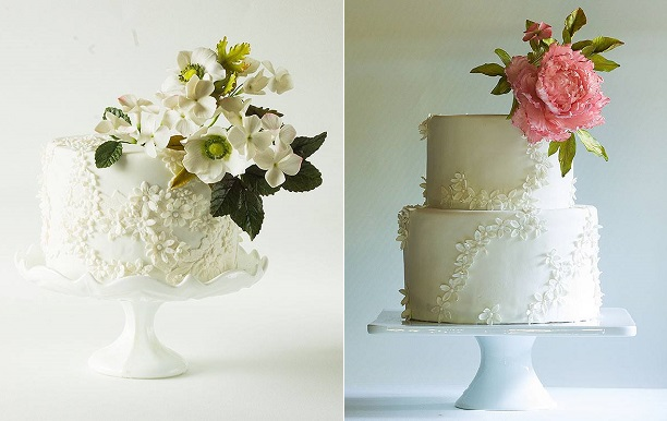floral lace cakes by Lina Veber Cakes