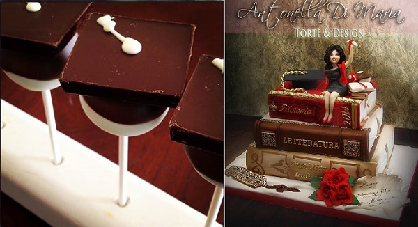 graduation cake pops tutorial from Ghiradelli Chocolate Co, cake right by Antonella Di Maria Torte