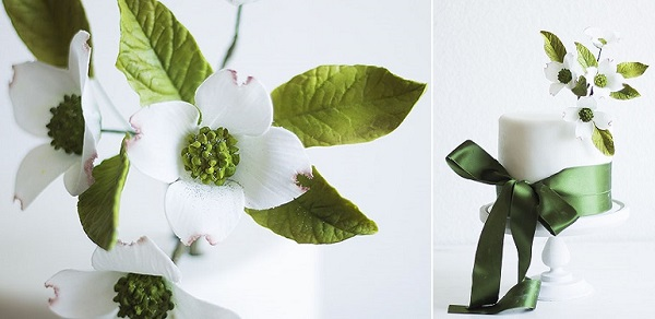 sugar foliage and cake by Lina Veber