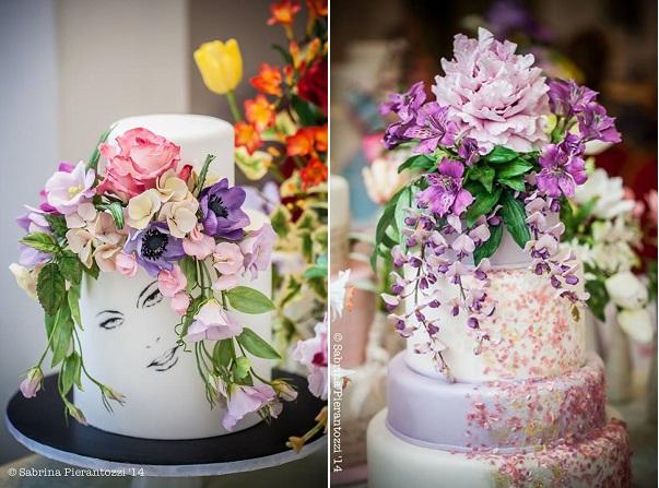 sugar foliage sugar flowers cakes by Torta di Nadia, Sabrina Pierantozzi Photography