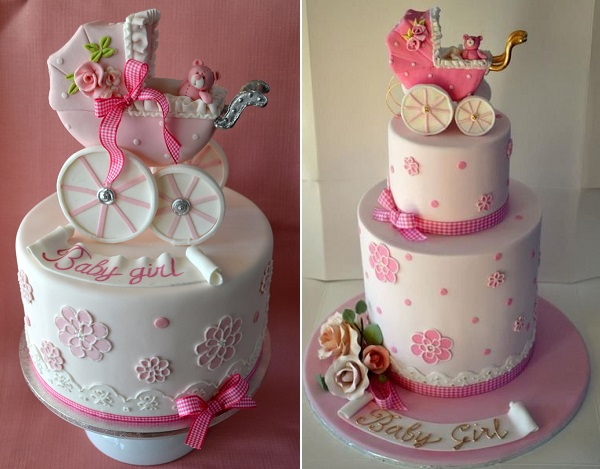 vintage baby carriage cakes by Sweet Ruby Cakes AU