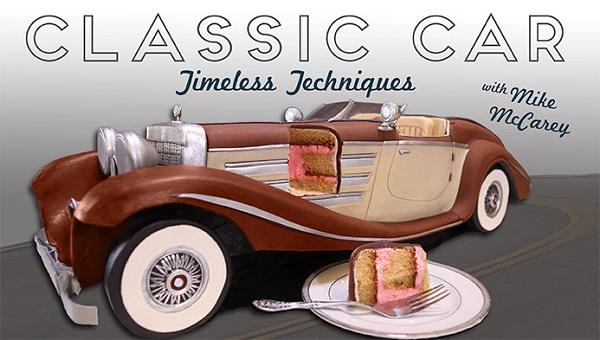 Car cake tutorial vintage car by Mike McCarey on Craftsy
