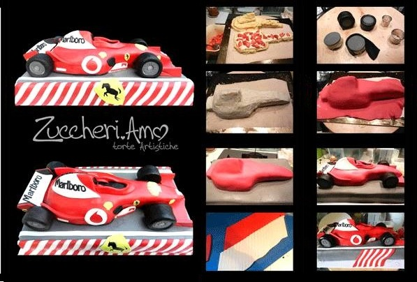 Formula 1 car cake tutorial by Love Sugar Cakes Artistische