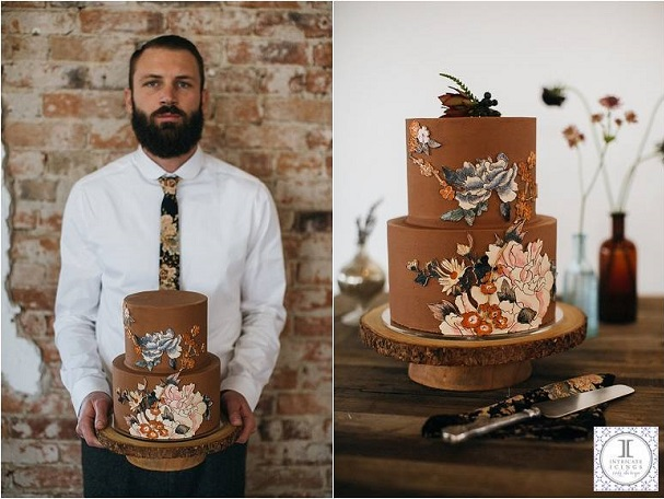 autumn wedding cake by Intricate Icings, Jarrod Reynaud Photography