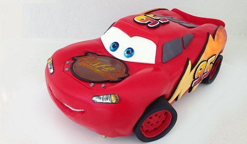 car cake tutorial Lightning McQueen by How To Cook That