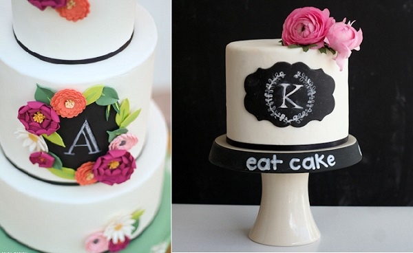 chalkboard cakes by Erica O'Brien