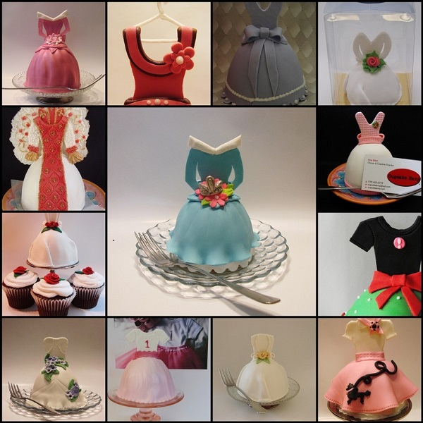 dress cake tutorial mini cakes by Cupcake Envy