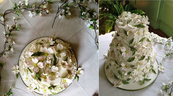 woodland wedding cake by Wendy Kromer Confections