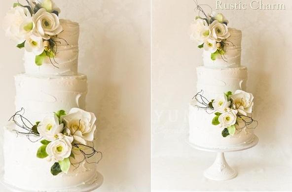 woodland wedding cake spring wedding cake by Yummy Cupcakes and Cakes