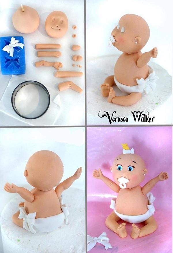 baby cake topper tutorial by Verusca Walker