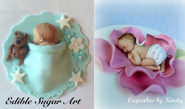 Baby Cake Toppers By Edible Sugar Art And Cupcakes Kirsty