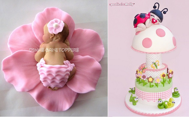 Baby Models And Cake Toppers By Dina S Left Molly Coppini Right